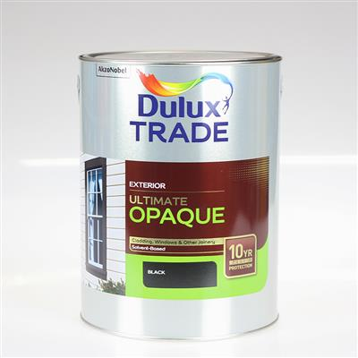 DULUX TRADE PAINT ULTIMATE OPAQUE BLACK 5L
