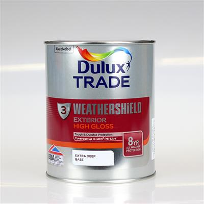 DULUX PAINT TRADE W/SHIELD EXT /GLOSS EXTRA DEEP BASE 1L COLOUR