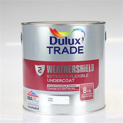 DULUX PAINT TRADE W/SHIELD EXT /UNDERCOAT DEEP BASE 2.5L COLOUR