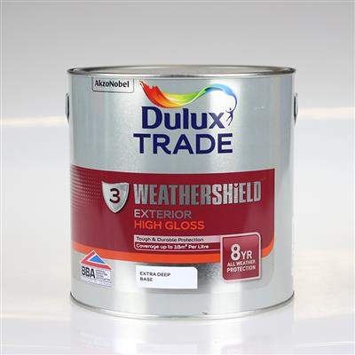 DULUX PAINT TRADE W/SHIELD EXT /GLOSS EXTRA DEEP BASE 2.5L COLOUR