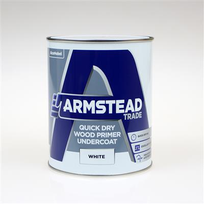 ARMSTEAD TRADE PAINT QUICK DRY WOOD PRIMER  UNDERCOAT 1L