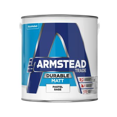ARMSTEAD PAINT TRADE DURABLE MATT PASTEL BASE 5LTR COLOUR