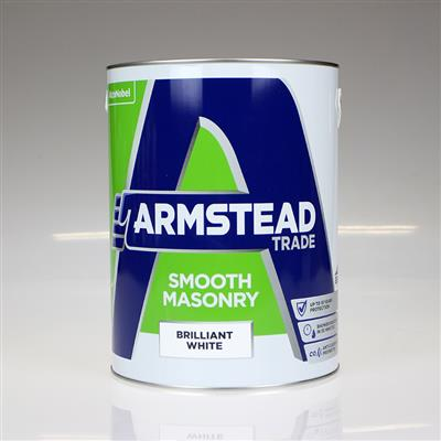 ARMSTEAD TRADE PAINT SMOOTH MASONRY BRILLIANT WHITE 5L
