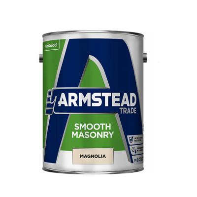 ARMSTEAD PAINT TRADE SMOOTH MASONRY STRONG BASE 5LTR COLOUR