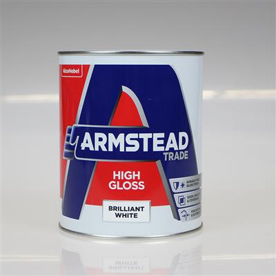 ARMSTEAD TRADE PAINT HIGH GLOSS BRILLIANT WHITE 1L