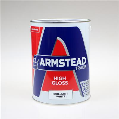 ARMSTEAD TRADE PAINT HIGH GLOSS BRILLIANT WHITE 5L