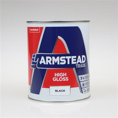 ARMSTEAD TRADE PAINT HIGH GLOSS BLACK 1L