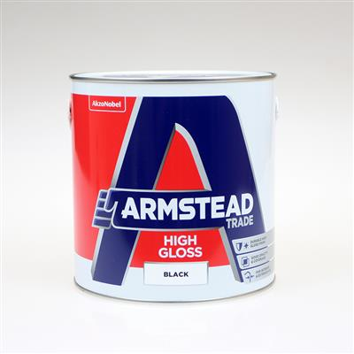 ARMSTEAD TRADE PAINT HIGH GLOSS BLACK 2.5L