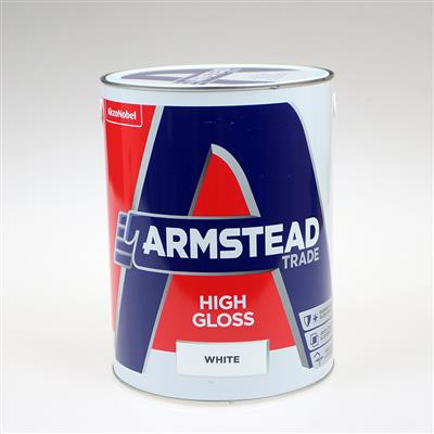 ARMSTEAD TRADE PAINT HIGH GLOSS WHITE 5L