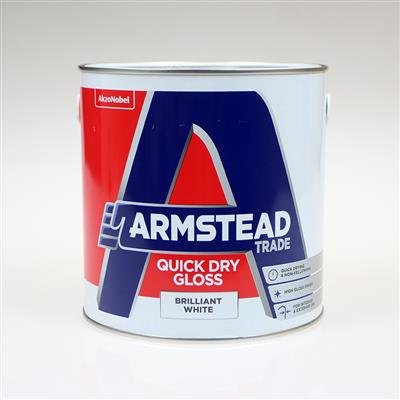 ARMSTEAD TRADE PAINT QUICK DRY GLOSS BRILLIANT WHITE 2.5L