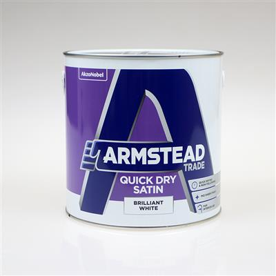 ARMSTEAD TRADE PAINT SATIN BRILLIANT WHITE 2.5L