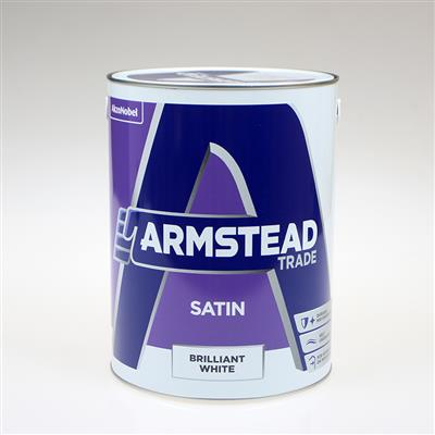 ARMSTEAD TRADE PAINT SATIN BRILLIANT WHITE 5L