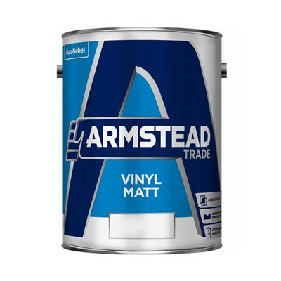 ARMSTEAD PAINT TRADE VINYL MATT PASTEL BASE 5LTR COLOUR