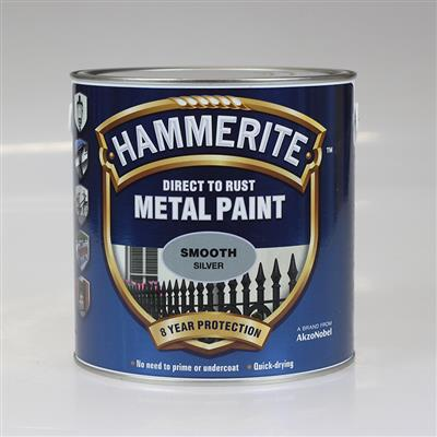 HAMMERITE METAL PAINT SMOOTH SILVER 2.5L