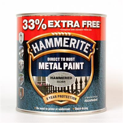 HAMMERITE METAL PAINT HAMMERED SILVER 2.5L