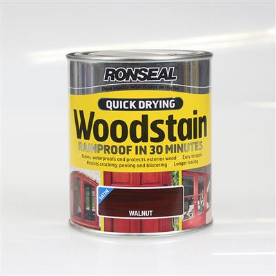RONSEAL WOODSTAIN QUICK DRYING WALNUT 750ML SATIN