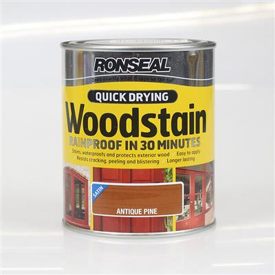 RONSEAL WOODSTAIN QUICK DRYING ANTIQUE PINE 2.5L SATIN