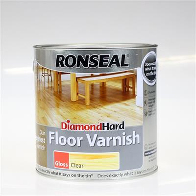 RONSEAL FLOOR VARNISH CLEAR GLOSS 2.5L