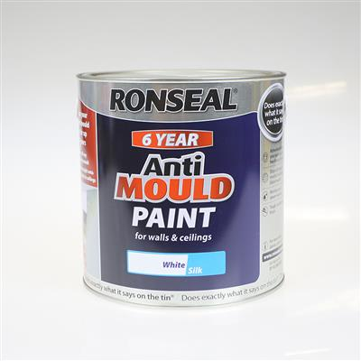 RONSEAL ANTI MOULD PAINT WHITE SILK 2.5L