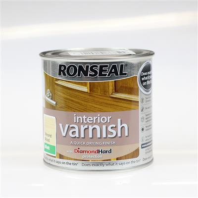 RONSEAL INTERIOR VARNISH ALMOND WOOD MATT 250ML QUICK DRYING