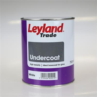 LEYLAND PAINT UNDERCOAT WHITE 0.75LTR