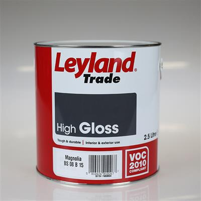 LEYLAND PAINT GLOSS MAGNOLIA 2.5LTR