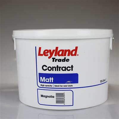 LEYLAND PAINT CONTRACT MATT MAGNOLIA 10LTR