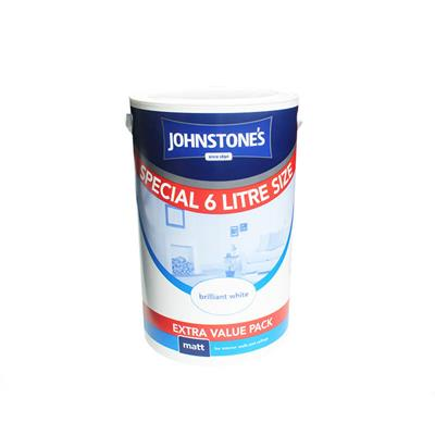 JOHNSTONES PAINT MATT BRILLIANT WHITE 6L