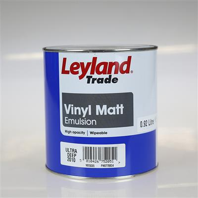 LEYLAND PAINT VINYL MATT  ULTRA DEEP 2010 0.92 LTR