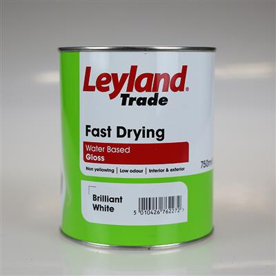 LEYLAND PAINT FAST DRY GLOSS BRILLIANT WHITE 750ML