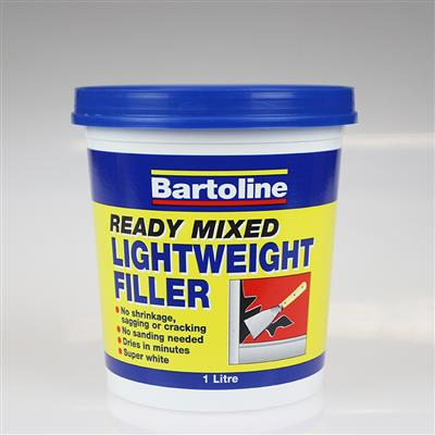 BARTOLINE FILLER READY MIXED LIGHTWEIGHT 1L