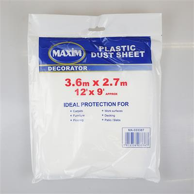 PLASTIC DUST SHEET 12' X 9' MAXIM