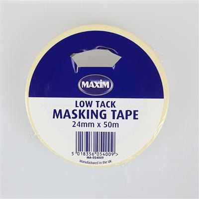 MASKING TAPE LOW TACK 24MM X 50M MAXIM