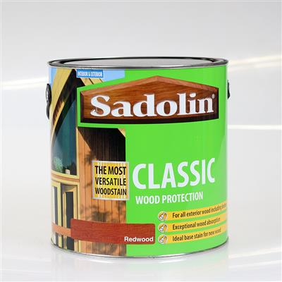 SADOLIN WOOD STAIN CLASSIC REDWOOD 2.5L