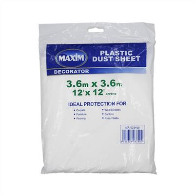 PLASTIC DUST SHEET 12' X 12' MAXIM
