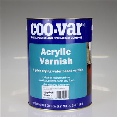 COOVAR PAINT ACRYLIC EGGSHELL VARNISH 5L