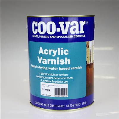COOVAR PAINT ACRYLIC GLOSS VARNISH 5L