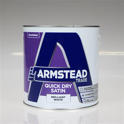ARMSTEAD TRADE PAINT QUICK DRY SATIN WHITE 2.5L
