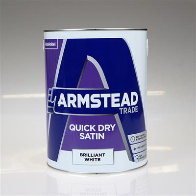 ARMSTEAD TRADE PAINT QUICK DRY SATIN WHITE 5L