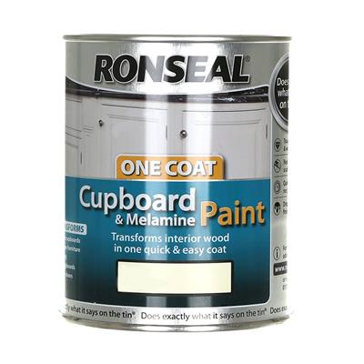 RONSEAL CUPBOARD PAINT IVORY SATIN 750ML