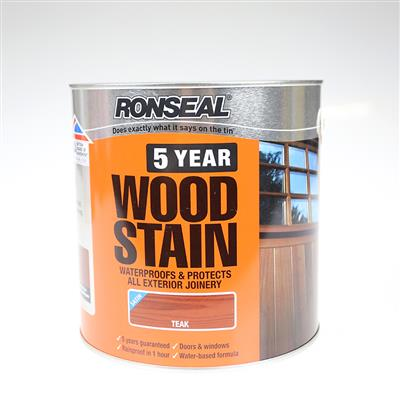 RONSEAL WOODSTAIN 5 YEAR TEAK 2.5L