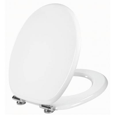 TOILET SEAT WOODY LUX WHITE 20719569 SOFT CLOSE CELMAC WHILE STOCKS LAST
