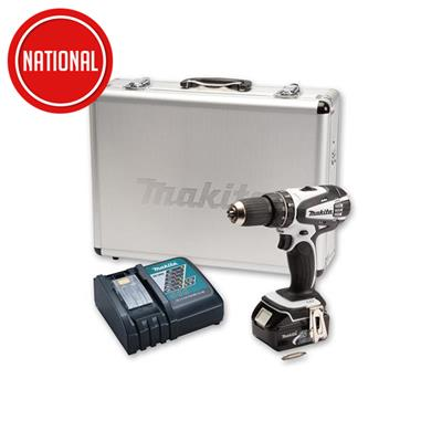 MAKITA HP457DWX4 18V COMBI DRILL C/W 1 CHARGER, BATTERY AND 70 PIECE SET WHILE STOCJKS LAST