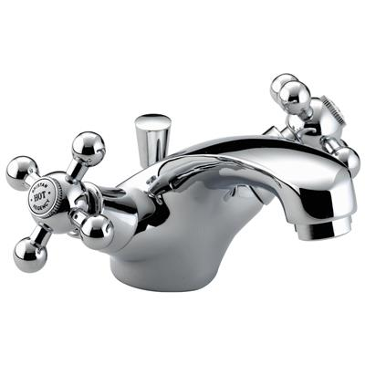 BRISTAN REGENCY MONO BASIN MIXER TAP C/W POP UP WASTE CHROME RBASC