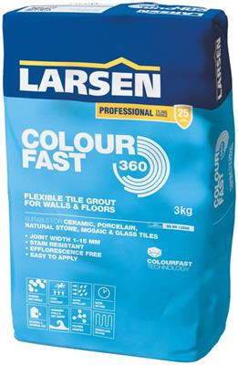 3kg Colour Fast 360 Black Grout