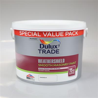 DULUX TRADE PAINT WEATHERSHIELD MASONRY MAGNOLIA 7.5L