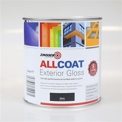 ALLCOAT EXTERIOR PAINT BLACK GLOSS 1L