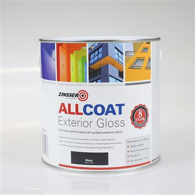 ALLCOAT EXTERIOR PAINT BLACK GLOSS 2.5L
