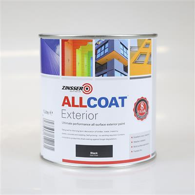 ALLCOAT EXTERIOR PAINT BLACK SATIN 1L