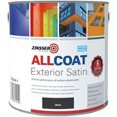 ALLCOAT EXTERIOR PAINT BLACK SATIN 2.5L